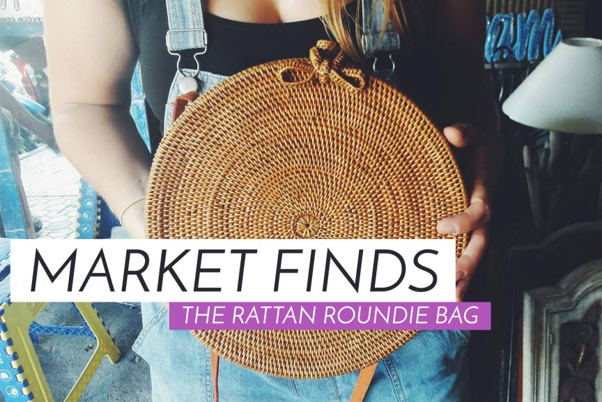 Market Finds The Rattan Roundie Bag