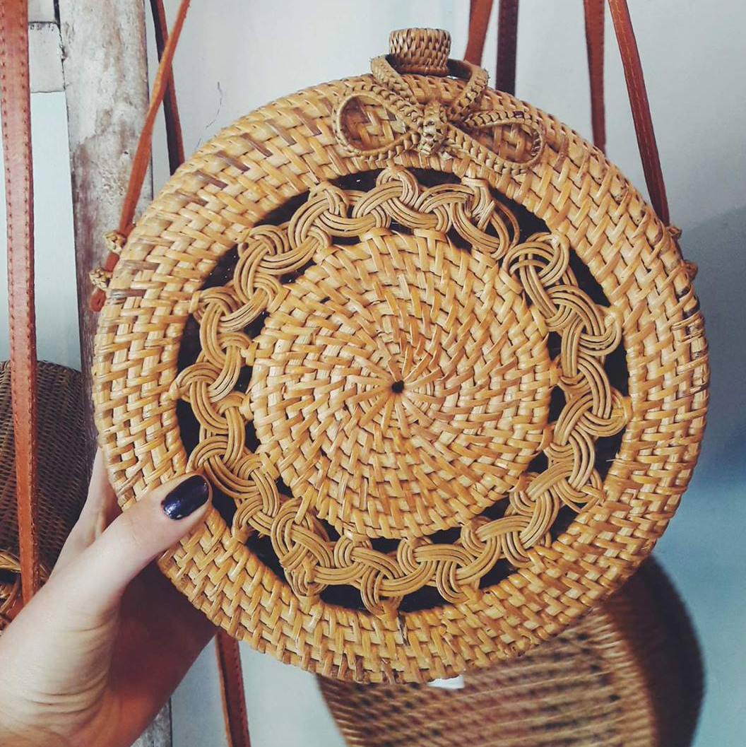 Market Finds The Rattan Roundie Bag Ubudhood